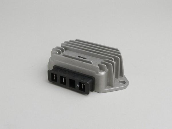 Spannungsregler -3-Pin 12V (G|G|Masse)- Vespa PX (ab Bj. 1984), T5 125cc, PK XL, V50 (4-fach Blinkanlage), Lambretta (e-Zündung) - 80W
