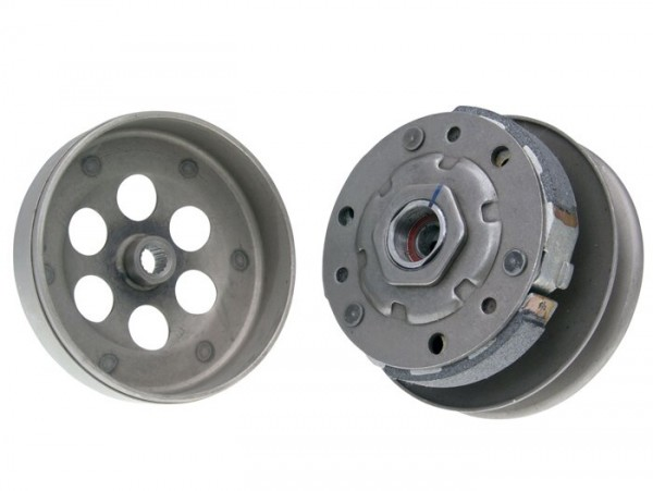 Pulley unit with clutch 110mm and clutch bell 112mm  -NARAKU- CPI 50 cc - CPI, Keeway, Generic, Morini