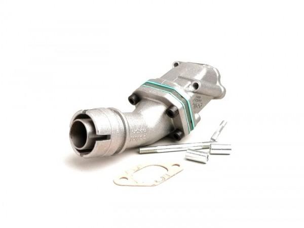 Colector de admisión - para caja de láminas -POLINI válvula de láminas 2 agujeros- Vespa V50, PV125 - Dellorto SHB Ø=19/19mm