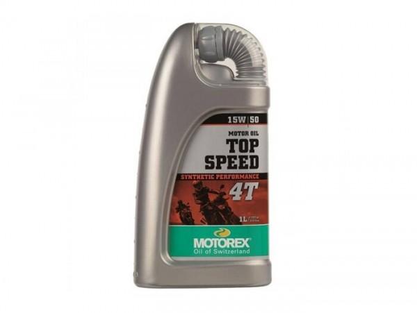 Öl - Motoröl -MOTOREX Top Speed 4T- 4-Takt SAE 15W-50 synthetisch - 1000ml