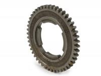 Gear 4 -PIAGGIO, 4-speed gearbox- Vespa V50, V90, 50N, PV125, ET3, SS50, SS90, PK S, PK XL1, PK XL2, ETS - 46 teeth
