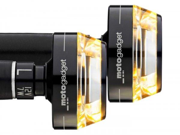 Blinker-set -MOTOGADGET Lenkerblinker- m.blaze disc - schwarz eloxiert