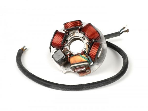Encendido -OEM QUALITÄT PL170 soporte bobinas completo (NOS)- Vespa PK XL, XL2, ETS - también para conversión del encendido de la V50, PV125 a encendido electrónico - 5 cables
