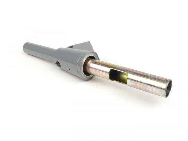 Schaltrohr mit Bohrung für Blinkerschalter -OEM QUALITÄT mit Lenkerblinker- Vespa Rally180 (VSD1T), Rally200 (VSE1T), Sprint150 (VLB1T), TS125 (VNL3T), GT125 (VNL2T), GTR125 (VNL2T), Super, GL150 (VLA1T), SS180 (VSC1T), PV125, ET3 - l=123mm Ø=24mm