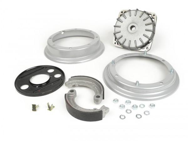 Kit conversión tambor de freno trasero 10 pulgadas a 8 pulgadas (llanta tipo Super con 4 agujeros exteriores) -CALIDAD OEM- Vespa Wideframe V1, V15, V30, V33, VU, VM, VN, VNA ,Hoffmann, VNB, ACMA, VL150, VB150, VBA150, VBB150
