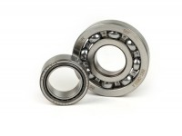 Ball bearing set crankshaft -MALOSSI MHR Vespa PX- 613912 (25x62x12mm) - C4, ball Ø=10.3mm, carbonitrided inner ring + NBI 253815- (25x38x15mm) - (used for crankshaft Vespa PX, Sprint Veloce, Rally200 (Ducati))