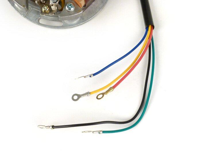 Zündung -BGM PRO Grundplatte (Kontaktzündung, 5 Kabel, 6V)- Vespa on