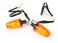 Blinker-Set -MOTO NOSTRA Lenkerblinker LED (E-Prüfzeichen), 12 Volt- Vespa V50, 50SS, 50SR, 50 Sprinter, 90SS, 90 Racer, PV125, ET3, Sprint150, Rally180/200