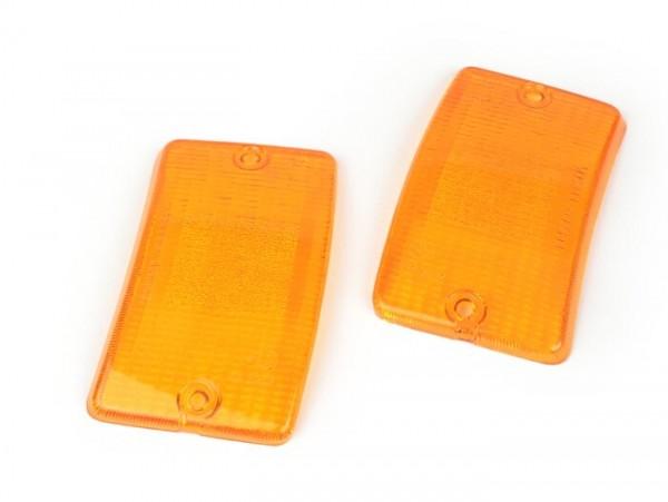 Blinkergläser -BOSATTA 2er Set- Vespa PK50 XL, PK125 XL vorne - orange