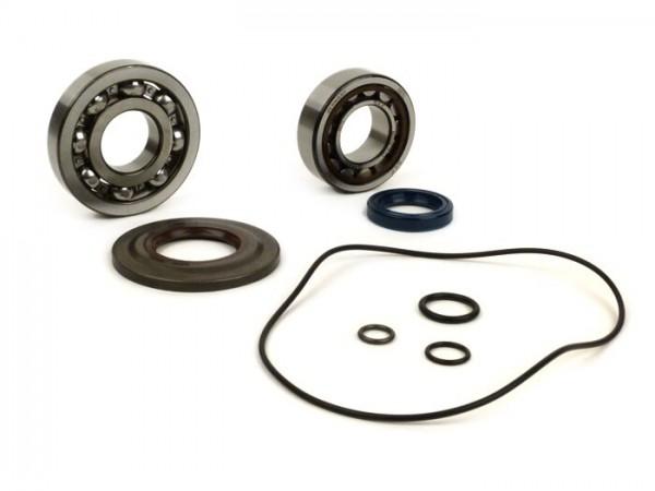 Kit rodamientos y retenes para cigüeñal -CALIDAD OEM- Vespa T5 (125cc) VNX5T - metal