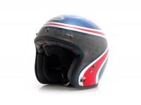 Helm -BELL Custom 500 AirtrHrt- Jethelm, blau/rot - XXL (63-64 cm)