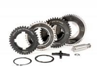 Gearbox (gear cogs only) -BGM PRO- Vespa P-range (-1984) - PX125 (VNX1T, 146314-VNX2T, 232052), PX150 (VLX1T 264565-624601), PX200 (VSX1T, -315266), Rally180 (VSD1T), Rally200 (VSE1T) - 12/57, 13/42, 17/38, 21/36 teeth - 4th speed short