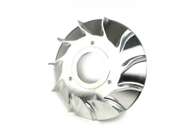 Ventilador para rotor volante -MMW aluminio CNC para encendido Malossi VesPower - 3 agujeros (versión temprana) - 270g- compatible con ref. 5515475, 5515610, 5515660, 5515684, 5515702