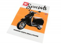 Brochure -SC Specials: VESPA Smallframe (Modern Vespa) Sprint, Primavera, S, LX, LXV (2013-)- edition 01/2019 - English