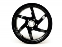 Wheel rim -PIAGGIO 3.50-13 inchl, disc brake - 6 spokes- GILERA Runner VX,VXR 125/200 4-stroke (rear), Vespa GTS, GTS Super, GTV, GT 60, GT, GT L 125-300cc - black