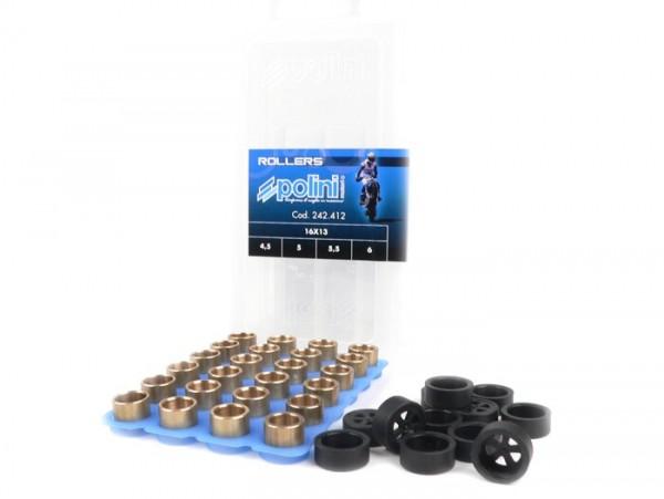 Gewichteset -POLINI Premium Qualität 16x13mm- 4,5-5,0-5,5-6,0g