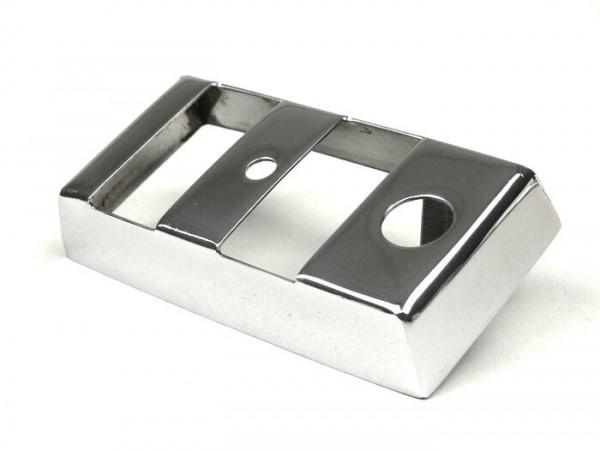 Tapa llave de luces -VESPA- PX (1984-) - acero inoxidable