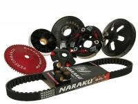 Kit variador -NARAKU- GY6 (4 tiempos) 50cc 139QMB - correa de transmisión l=669mm