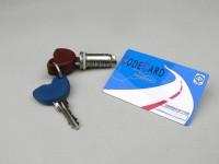 Lock cylinder -PIAGGIO- Vespa GT, GTV, GTL, GTS 125-300 - Masterkey, Slavekey, Codecard