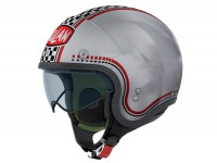 Helmet -NOLAN N21 Lario- jet helmet, scratched chrome - XXS (51-52cm)