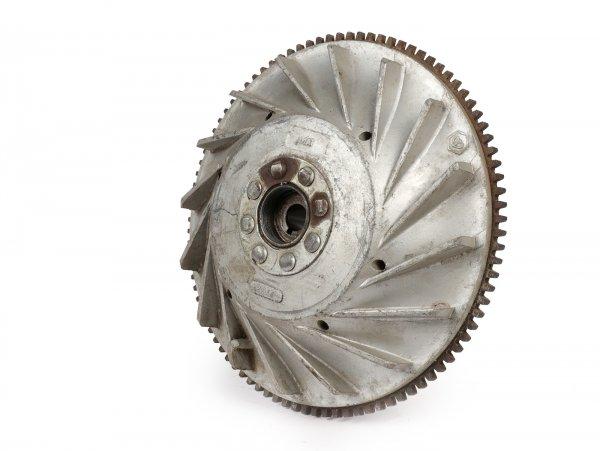 Volante magnético -PIAGGIO/LML (NOS) 2500g- Vespa PX80, PX125 - diámetro pequeño (Ø185mm), aletas planas, con Elestart