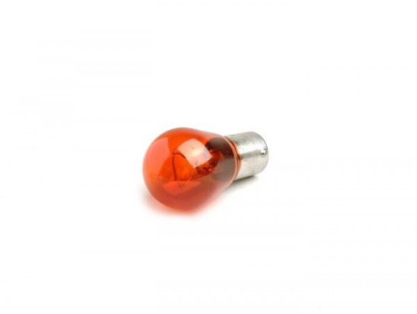 Light bulb -BAU15s (offset pins) - 12V 21W - amber