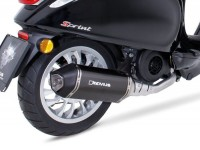 Auspuff -REMUS (mit Katalysator) Ø=65mm- Vespa Primavera 125-150ie 3V iGet (2016-, Euro 4), Vespa Sprint 125-150ie 3V iGet (2016-, Euro 4) - Carbon