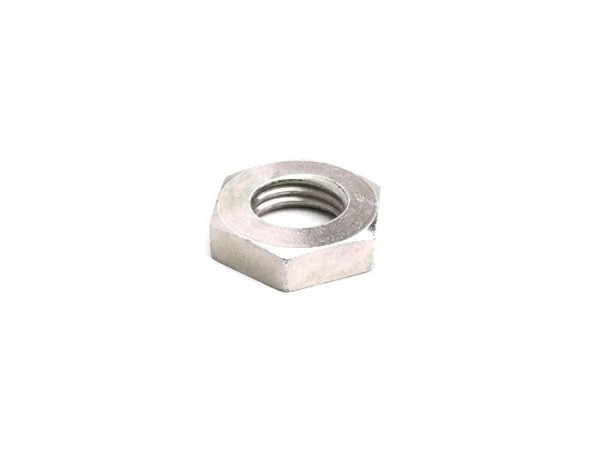 Nut M12 x1.5 WS=19 flat type (used for crankshaft/primary gear wheel Vespa V50, V90, SS50, SS90, PV125, ET3, PK S, PK XL)