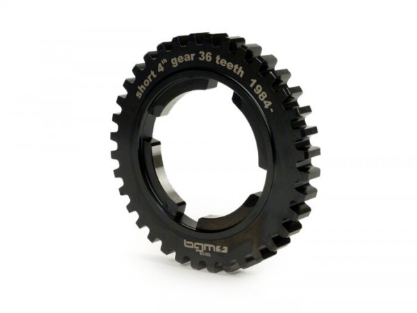 4th speed gear cog -BGM PRO, type EFL- Vespa PX125-150 (1984-), T5 125cc, Cosa125-150, LML Star/Stella125/150 2-stroke - short 4th gear for PX200 (1984-), Cosa200 - 36 teeth