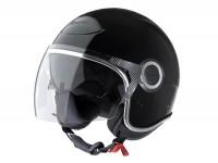Helmet -VESPA VJ- open face helmet, black - XS (52-54cm)
