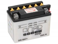 Battery -Standard SCEED 42 Energy- CB4L-B - YB4L-B - 12V, 4Ah - 93x71x121mm (with acid)