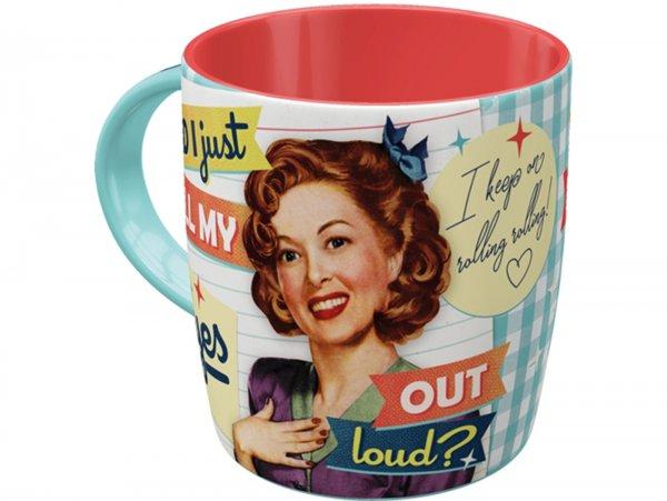 "Mug -Nostalgic Art- ""Did I just roll my eyes out loud"", Ø=85mm x 90mm, 340ml"
