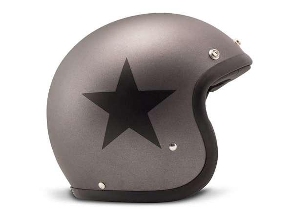 Helmet -DMD Jet Vintage- open face helmet, vintage - Star Grey - L (59cm)