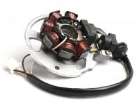 Zündung -BGM ORIGINAL Grundplatte- Minarelli 50 ccm (Yamaha) horizontal - 40cm Kabel