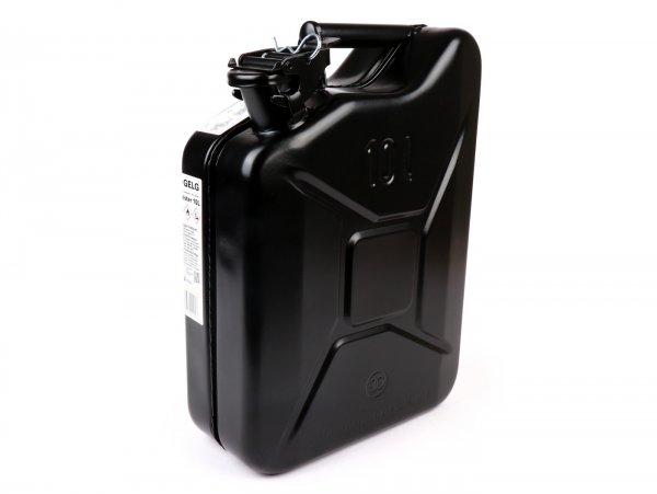 Bidón de gasolina 10l -FA ITALIA, metal- negro (RAL9005)