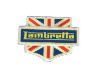 Toppa -LAMBRETTA UNION JACK- 80x60mm