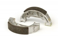 Brake shoes rear -PIAGGIO Ø=100x20mm, without slot in the anchor pin- PIAGGIO TPH50 (93-95), NRG 50 (94-98), NRG Extreme AC 50 (1999), NTT 50 (1995), Quartz 50 (1992), Sfera 50, Sfera 50 RST, Sfera 80, Zip 50 (1992), GILERA Storm 50 (1994)