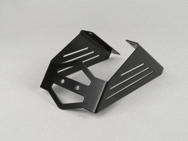 Number plate holder -LENNES- Aprilia SR 50 R - stainless steel black