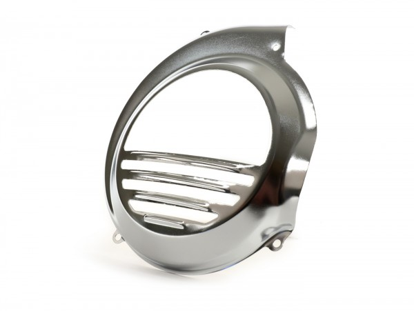 Flywheel cover -OEM QUALITY- Vespa PX80, PX125, PX150, PX200 - models with kickstart only - chrome