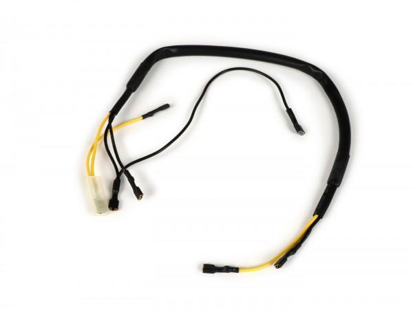 Kabelast Lenker -BGM ORIGINAL- Vespa PX (-1984, AC, italienisch) - ohne Batterie, weißer Zündschloßkorpus mit 4 Anschlüssen