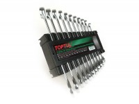 Combination wrench set -TOPTUL- 8, 10, 11, 12, 13, 14, 15, 16, 17, 18, 19mm - 11 pcs