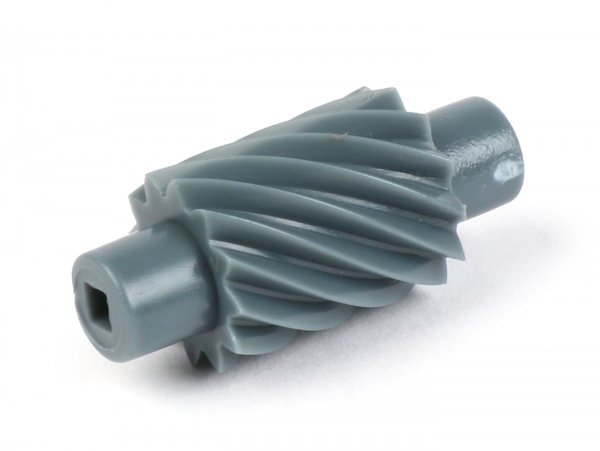Caracol cuentakilómetros -CALIDAD OEM- Vespa 12 dientes, l=28mm, 2,7mm cuadrado, gris (utilizado en Vespa PX Lusso (a partir del año 1985), T5 125cc, Cosa, Grimeca Classic)