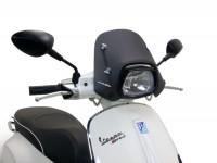 Windschutzscheibe -ERMAX Piccolo- Vespa Sprint50ccm, Sprint125, Sprint150 - satin schwarz