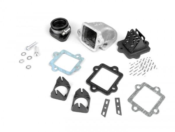 Colector de admisión - para caja de láminas -LTH válvula de láminas- Lambretta 125-225cc - Ø conexión=34mm
