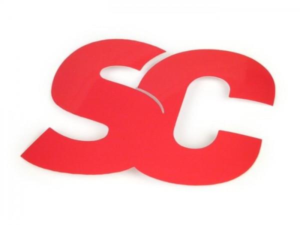 Sticker -SC- Scooter-Center - 45x65mm - rot