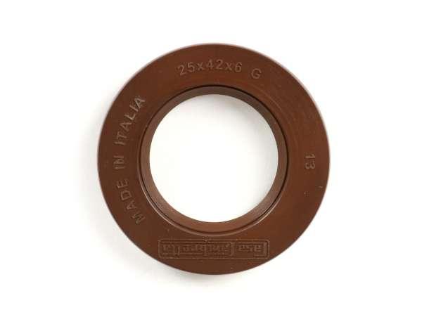 Wellendichtring 25x42x6mm -CASA LAMBRETTA (FKM)- (verwendet für Kurbelwelle Lichtmaschinenseite aussen Lambretta LI (Serie 2-3), LIS, SX, TV (Serie 2-3), DL, GP)