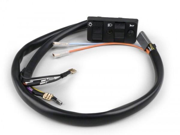 Lichtschalter -VESPA- PK50 S Elestart (österreichische Modelle - ab Nr. 180978), PK50 S Elestart (englische Modelle), PK80 S Elestart, PK125 S Elestart, PK125 S Automatik
