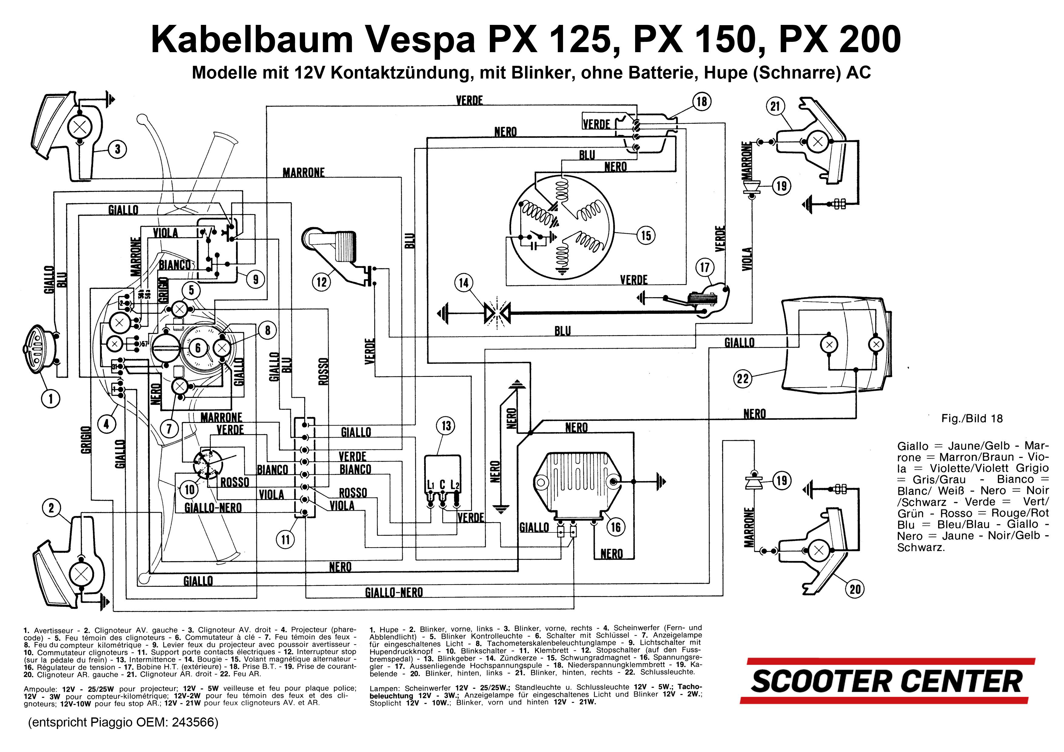 Wiring Diagram Vespa Px 150 - Wiring Diagram