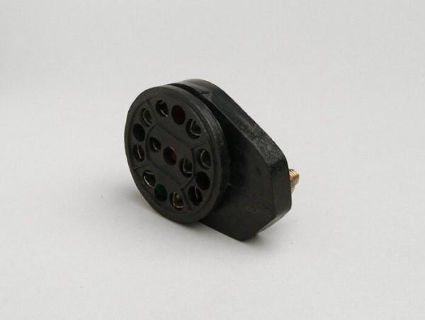 Distributor headlamp plug -MADE IN INDIA- Lambretta LI (series 3), LIS, SX, TV (series 3), DL, GP, J100, J125 - point set ignition