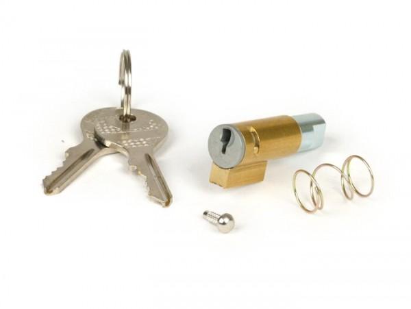 Cerradura dirección -CALIDAD OEM, 38.5x6mm- Vespa PX (-1984), V50 R (V5A1T, 912783-), V50 S (77868-), V50 SR/Sprinter (V5SS2T), V100 (V9B1T), PV125 (VMA2T, 0188997-), ET3 (VMB1T, 44966-)